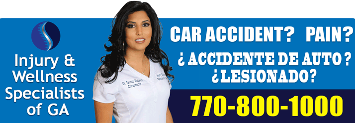 Chiropractor Norcross GA Tannaz Modaresi Banner for Car Accident and Pain